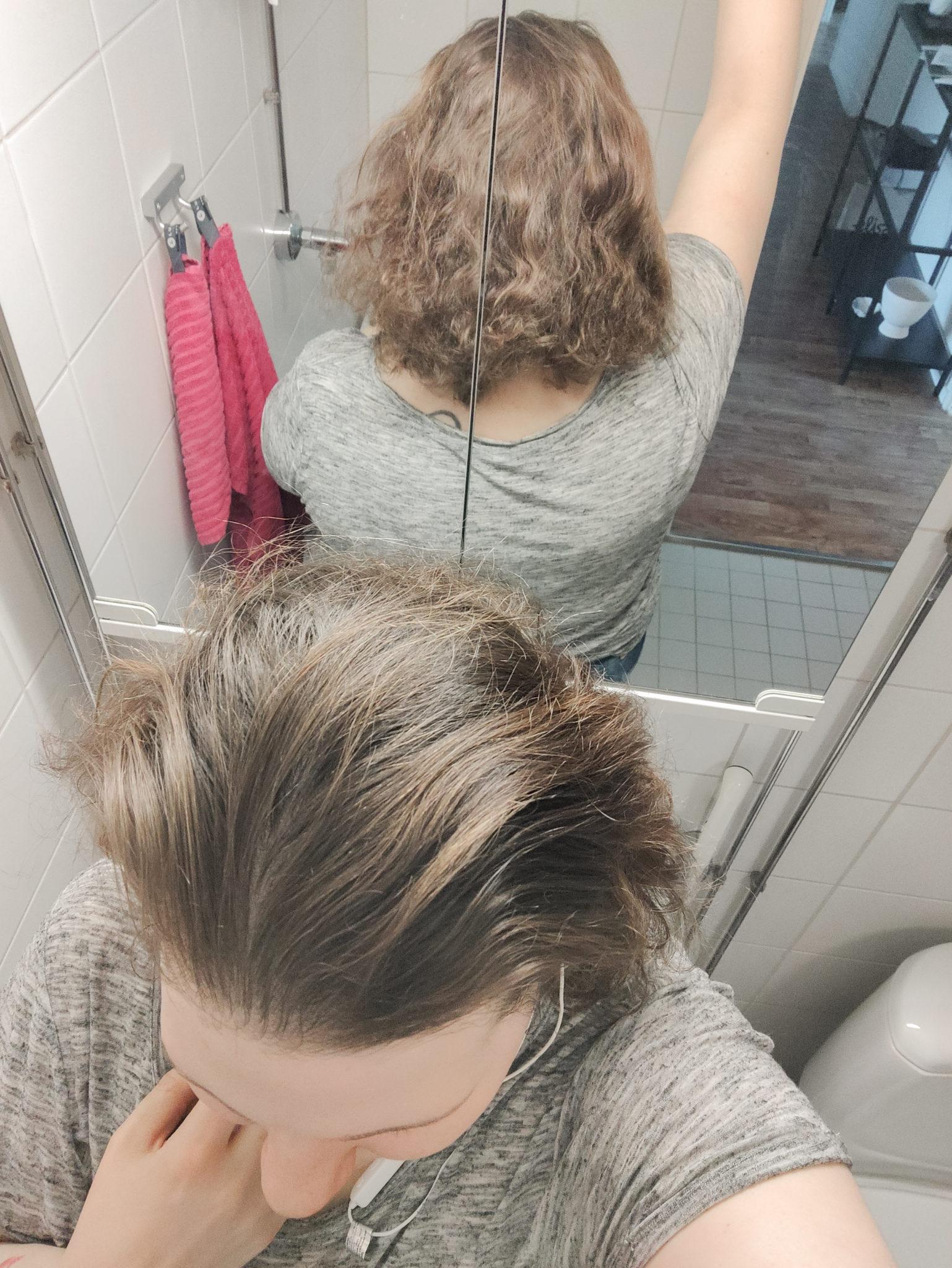 Hiukset ennen ja jälkeen - Big mamas home by Jenni