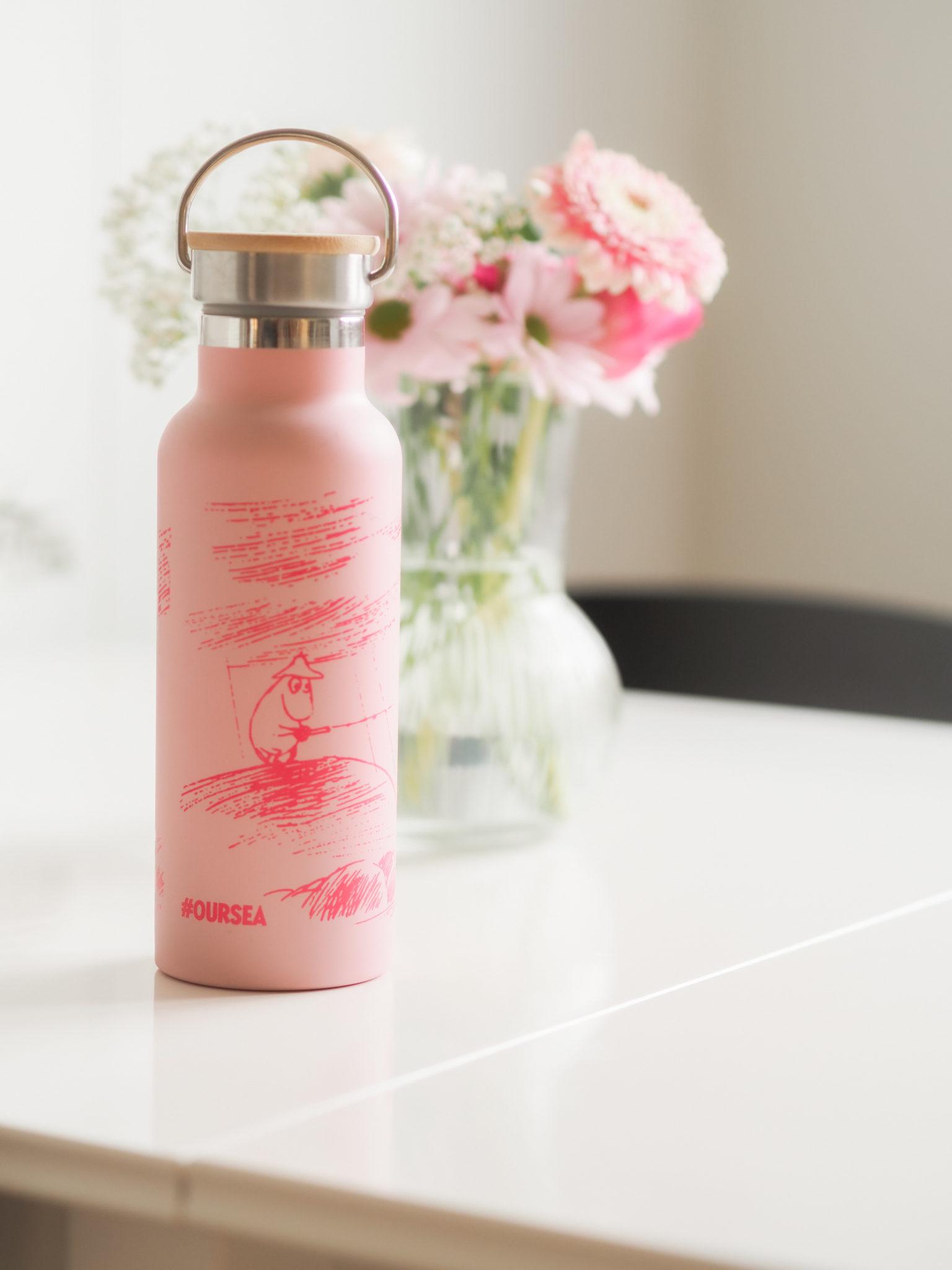 Martinex - Muumit Oursea vaaleanpunainen juomapullo - BMH - Big mamas home by Jenni